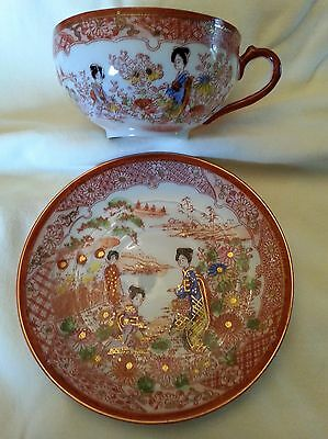 Antique Japanese Hand-Painted Eggshell China Tea Set- Mint Condition!!