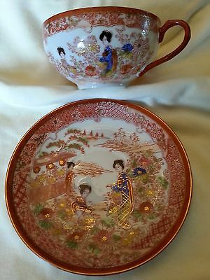 Antique Japanese Hand-Painted Eggshell China Tea Set- Mint Condition!