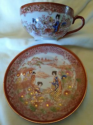 Antique Japanese Hand-Painted Eggshell China Tea Set! Mint Condition!