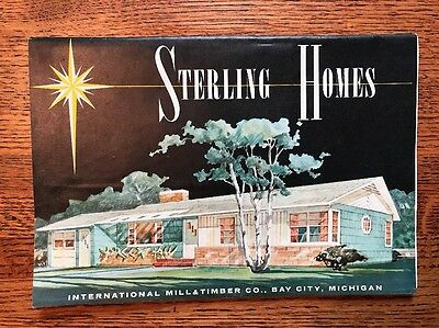 Vintage Sterling Homes House Home Plans Catalog Brochure 1960s Mid Century