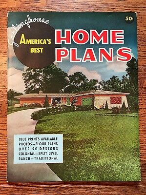 Vintage Garlinghouse America's Best Home House Plans Catalog Book Mid Century