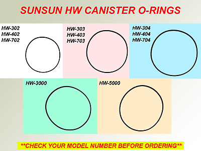 Sunsun Canister O-Ring Replacement For Hw-302 303 304 402 403 404 702 703 704