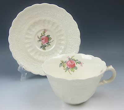 Spode China BILLINGSLEY ROSE-PINK Cup and Saucer Set(s) VERY GOOD