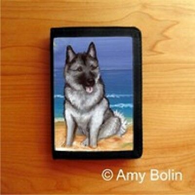 NORWEGIAN ELKHOUND  Dog TRI FOLD WALLET by Amy Bolin BEACH BUM