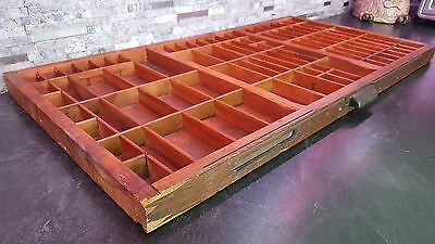 Large Vintage Hamilton Printers Wood Case Tray Shadow Box Letterpress Drawer