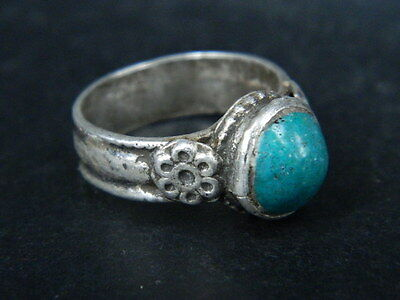 Antique Silver Ring With Stone Post Medieval 1800 AD   #STC478