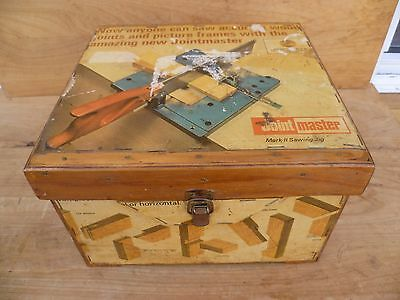 Vintage Old Carpentry Joint Master Tool, In Timber Case, Old Tool (E362)