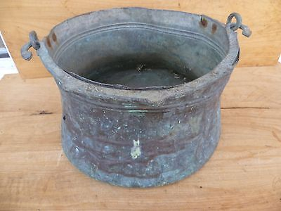 Antique Old Large Size Copper Hand Made Pot, Old Cooking Pot (E367)