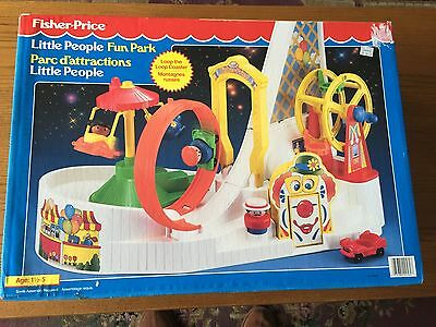 Vintage 1992 New Fisher Price Chunky  Little People Fun Park 02560A