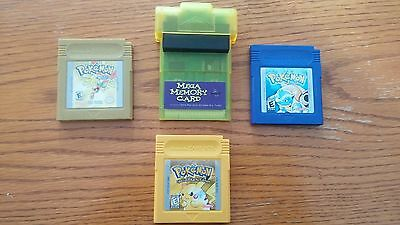 Gameboy Mega Memory Card and Pokemon Games