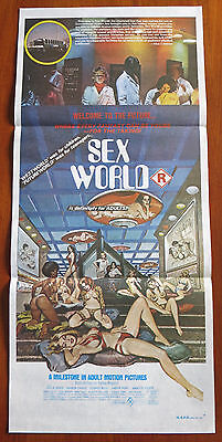 SEX WORLD (1978) Rare Original Australian Daybill Movie Poster SEXPLOITATION