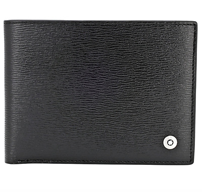 Montblanc Westside 38036 6 CC Black Leather Wallet