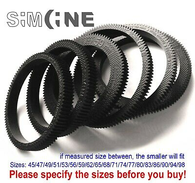 1x Seamless Flexible Follow Focus Gear Ring 56-86mm for DSLR, manual etc. lenses