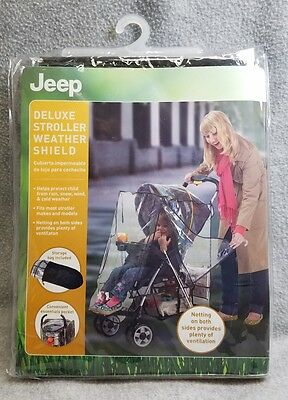 Jeep Deluxe Stroller Cover Weather Shield Baby Rain Protector Waterproof NEW