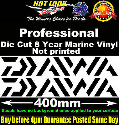 Daiwa 2 stickers 400mm Wide for Electric Fishing Reel Boat Tandem Trailer fridge