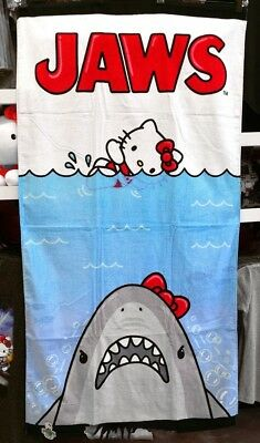 Authentic Universal Studios Hello Kitty Beach Towel - Jaws Movie Poster