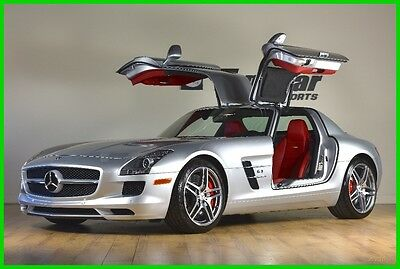 2012 Mercedes-Benz SLS AMG SLS AMG® 2012 MERCEDES SLS AMG GULLWING SILVER OVER RED