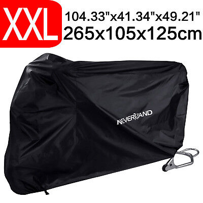 NEVERLAND XXL Waterproof Motorcycle Cover Motorbike Dust UV Sun Protection Black