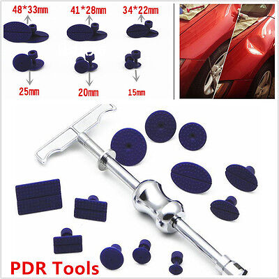 Body Paintless Dent Repair PDR Tools Kit Puller Slide Hammer Tab Glue Sticker