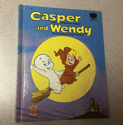 VINTAGE 1978 CASPER and WENDY BOOK the FRIENDLY GHOST GOOD LITTLE WITCH HARVEY