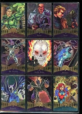 1995 Marvel Metal 138 Card Set