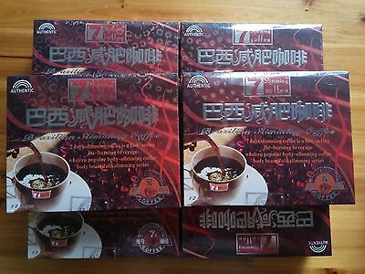 Hot·6 Boxes Brazilian 7 Days Authentic Quick Weight Loss Slimming Coffee