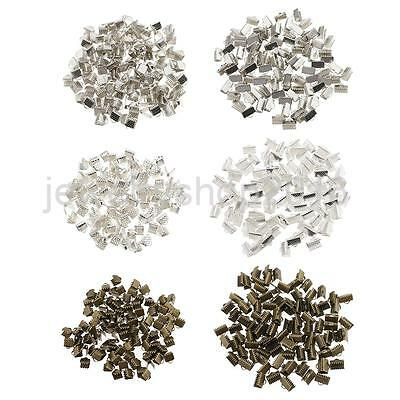 Cord Ribbon End Necklace Clamps Clasp Finding Silver 6 mm/10mm DIY Jewellery