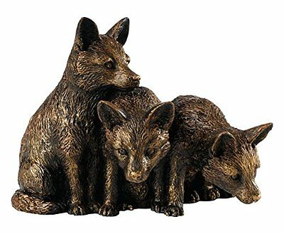 Border Fine Arts studio bronzo Fox Cubs figurine