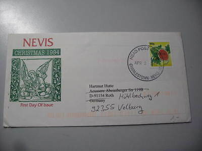 Lettre Fdc Nevis 2002 Official
