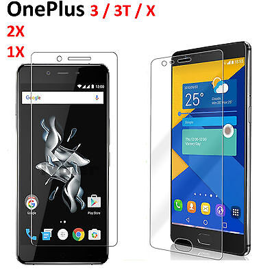 Tempered Glass Screen Protector Scratch Resist Guard for Oneplus 3 / 3T / X