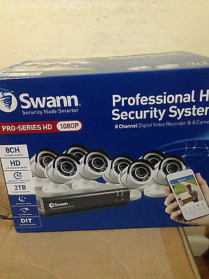 Swann Pro-series HD 1080 Professional security system 8CH Brand New Great Deal