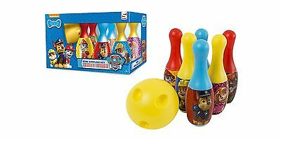 Paw Patrol Mini Bowling Set Indoor Outdoor Skittles Toy Game Tenpin Play Gift