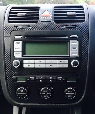 VW Golf Mk5 Jetta Bora Carbon Fibre effect climatronic dash + air vents C