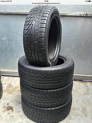 4 Pneumatici Gomme Ruote Nokian 205 55 16 91/94H Xl M+S Invernali Usate 779