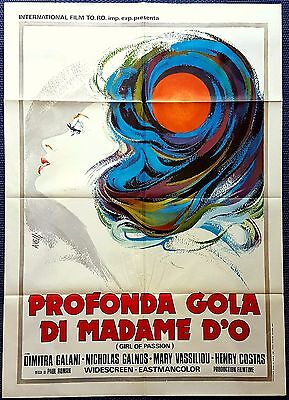 Manifesto Poster Movie Cinema Profonda Gola Di Madame D'o Erotico Hard Core Sa