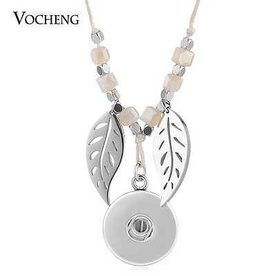 10pcs/lot Vocheng 18mm Snap Rope Chain Beige Natural Stone Necklace NN-616*10