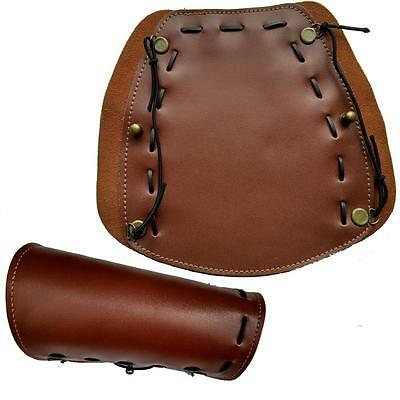 New Traditonal Archery Arm Guard 7*8.3'' Leather Protector Gear Hunting Shooting