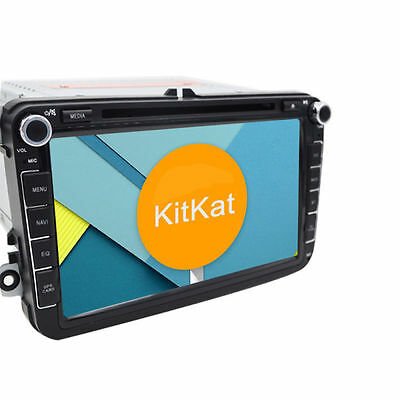 """8"""" Quad-Core Android 4.4 GPS Autoradio Car Stereo DVD Player WiFi-3G For VW Seat"""
