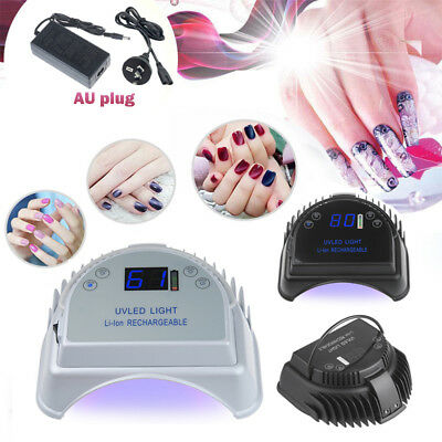 64W Professional Portable LED UV Nail Lamp Automatic Sensor Gel Polish Dryer AU