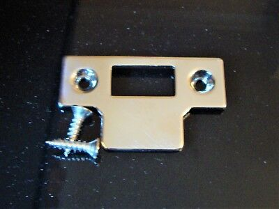 YALE MORTICE LATCH, POLISHED BRASS Door Catch STRIKER KEEP PLATE