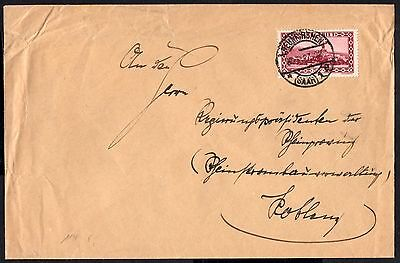 (Ref-10231) Germany Saar 1927 Cover - Tholey Abbey Stamp