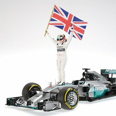 Minichamps 410140644 1/43 Mercedes 2014 W05 Hamilton Abu Dhabi GP Champion Model