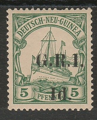 Gri New Guinea 1914 Yacht 1D On 5Pf Variety Straight Top Serif On 1 5Mm Spacing