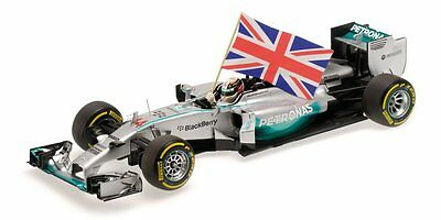 Minichamps 110140544 1/18 2014 MERCEDES W05 Hamilton Winner ABU DHABI GP F1 Car