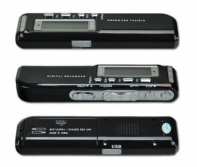650Hr USB LCD Screen Digital Audio Voice Recorder Dictaphone MP3 Player 8GB