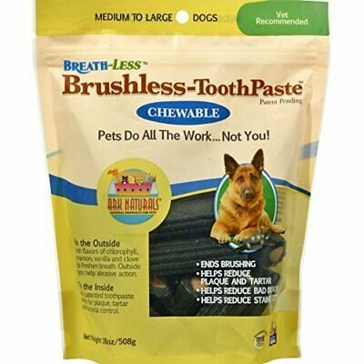 Ark Naturals Pet Breathless Chewable Toothpaste Medium/Large - 12 Oz (Pack Of 3)