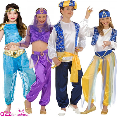 Kids Arabian Prince Princess Genie Bollywood Girls Boys Fancy Dress Costume  sc 1 st  PicClick UK & KIDS ARABIAN PRINCE Princess Genie Bollywood Girls Boys Fancy Dress ...