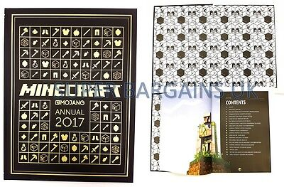 Official Minecraft 2017 Annual | Mojang | New | Hardback Soft Touch Cover