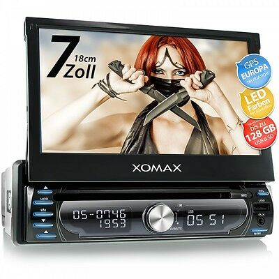 Autoradio Avec Navi Gps Navigation Bluetooth Touchscreen Dvd Cd Usb Sd Mp3 1Din
