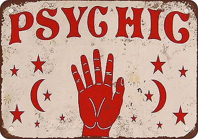 """7"""" x 10"""" Metal Sign - Psychic - Vintage Look Reproduction"""